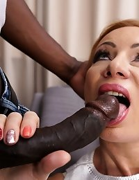 Naughty mature slut is in the mood for a big black cock
